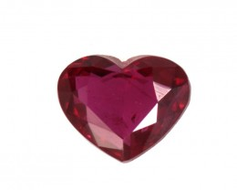 0.40cts Natural Ruby Heart Shape