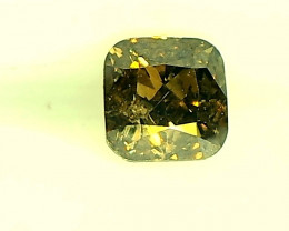 0.25cts  Fancy Dark brown Green Diamond , 100% Natural Untreated
