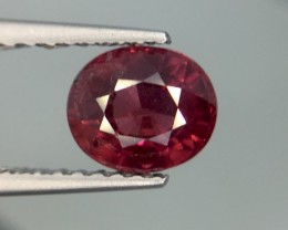 1.26 Cts Natural Cherry Red Garnet Awesome Color ~ Africa Pk25
