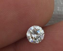 (B6) Gorgeous IGL Cert $4800 Nat 0.51ct. Round  Brilliant White Diamond