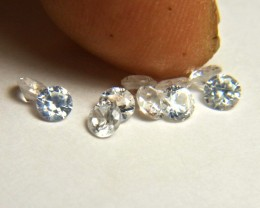 2.64 Carat VVS/VS White Southeast Asian Zircons - 3.5mm - 10pc.