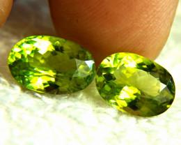 7.05 Tcw. Himalayan VS Vibrant Green Peridots - Gorgeous