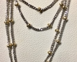 STUNNING 18 K GOLD CHAIN,2 TONE COLOURS  L316 a