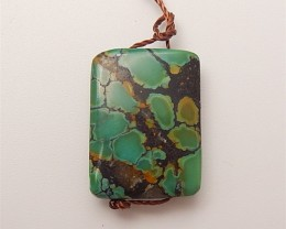 16ct Hot Sale Natural Turquoise Pendant Beads (18061209)