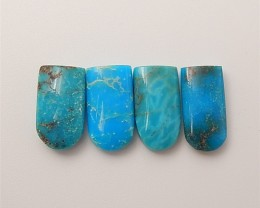 17.5ct 4Pcs Fashion Natural Turquoise Cabochon (18061210)