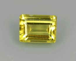 1.50 Cts - Sparkling Luster - Octagon Gem - Natural Fine Yellowi Beryl