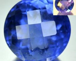 10.91 Cts Natural Color Change Fluorite Nice Round Brazil Gem