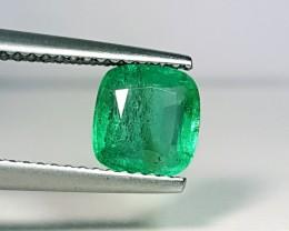 1.25 ct Beautiful Green Cushion Cut Natural Emerald