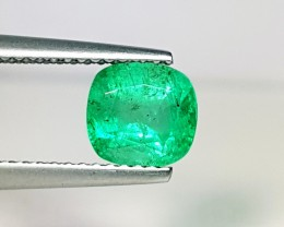 1.45 ct AAA Green Cushion Cut Natural Emerald