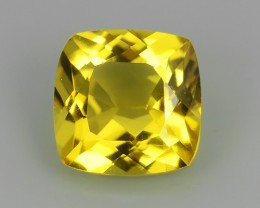 ViP'S COLLECTION 2.60 CTS EXCELLENT CUSHION  FINE YELLOW BERYL BRAZIL!