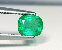 1.05 ct AAA Gem Green Cushion Cut Natural Emerald