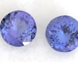 Luminous 2.95ct Blue Tanzanite Pair F126