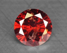 0.14 Cts Natural Fancy Red Diamond Round Africa