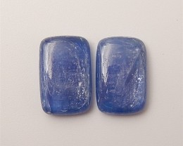 14ct Hot Sale Natural Blue Kyanite Cabochon Pair(18061313)