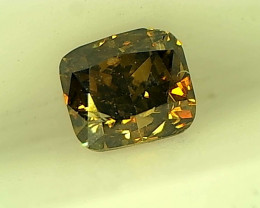 0.28cts  Fancy Dark Brown Green Diamond , 100% Natural Untreated