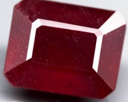 6.83 Cts .  Blood Red Natural Ruby Mozambique Gem