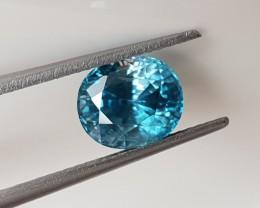 3,30ct Blue Zircon