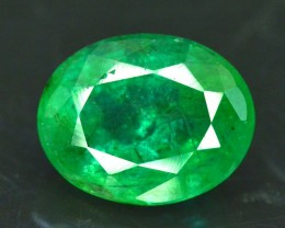 2.95 cts Oval Cut Deep Color Beautifull Zambian Emerald Gemstone