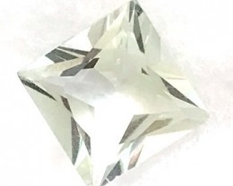 Pale Green 4.15ct Princess Cut Prasiolite Amethyst - Brazil