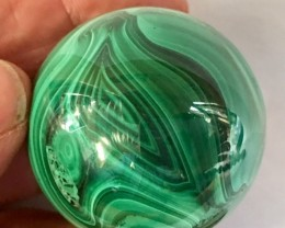 860 Cts Malachite Sphere from Congo GG 2155