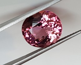 4,98ct Certified Rubellite Tourmaline - Eye clean!