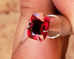 Certified 1.18 CT Investment-Grade VIVID Red Spinel (Burma)