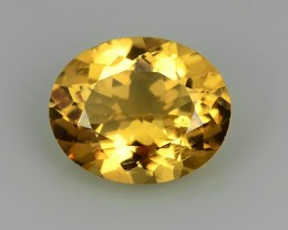2.75 CTS MARVELOUS LUSTER GOLDEN YELLOW NATURAL HELIODOR BERYL OVAL GEM NR!