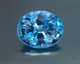 5.74 Cts Blue Zircon Awesome Color ~ Cambodia Pk26