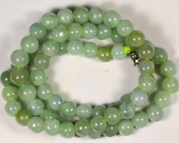 303.0Ct Burmese Type-A Jadeite Jade Necklace
