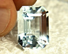 9.05 Ct. Himalayan Silver Blue VVS Aquamarine - Gorgeous