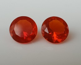 1,70ct Mexican Fire opal pair