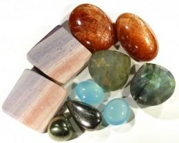190 cts LIQUIDATION 5 pairs Mixed  Gemstones GOGO 1852