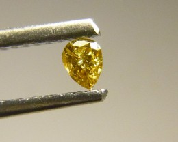 0.10ct Golden  Diamond , 100% Natural Untreated