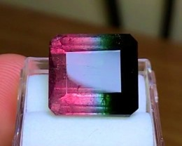18.85 cts Tricolor Tourmaline - Brazilian - Green Pink & Blue!
