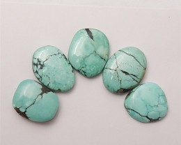 26.5ct 5Pcs On Sale Nugget Turquoise Cabochon (18061604)