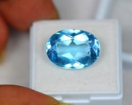 13.95Ct Natural Blue Topaz Oval Cut Lot LZ690