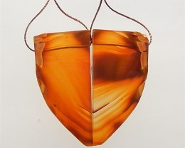 77.5ct New Arrival Natural Ren Agate Earring Pair(18061607)