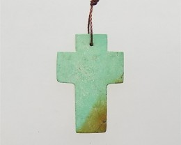 15.5ct On Sale Natural Turquoise Cross Pendant(18061615)