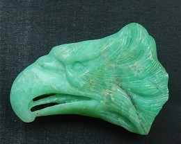 74.5ct Specialoffer Natural Chrysoprase Craved Eagle Head Cabochon (1806162