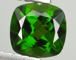 1.05 CTS NATURAL ULTRA RARE CUSHION CHROME GREEN DIOPSIDE RUSSIA
