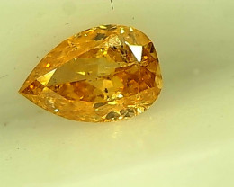 0.18cts  Fancy Intense Yellowish Orange, 100% Natural Untreated