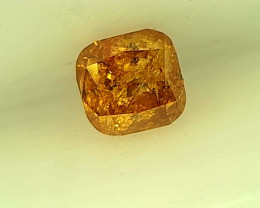 0.21cts  Fancy Deep Orange Diamond , 100% Natural Untreated