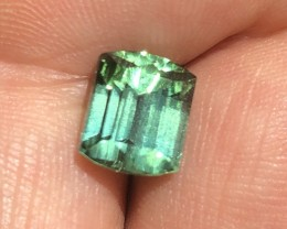 Afghan tourmaline 3.95 ct opan green color.