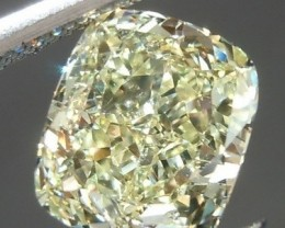 GIA Certified 0.70ct  Light Yellow Diamond , 100% Natural Untreated