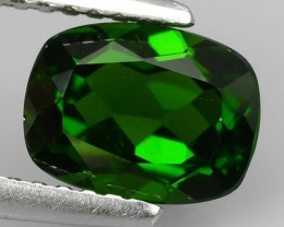 1.45  Cts Eye Catching Natural Rich Green Chrome Diopside Cushion