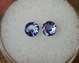 0,92ct Tanzanite pair