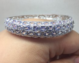 (B1) Stunning Nat 115.3tcw. Top Nice Blue Tanzanite  Bangle