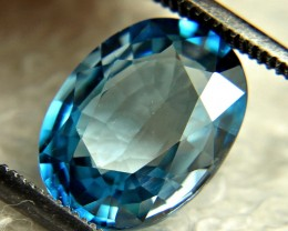 4.98 Carat Southeast Asian Blue VVS Zircon - Gorgeous