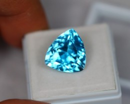 10.95ct Natural Blue Topaz Trillion Cut Lot GW1632