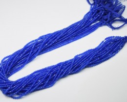 100% NATURAL AUTHENTIC BLUE CHALCEDONY FACETED RONDELLE BEADS (1 STRAND ONL